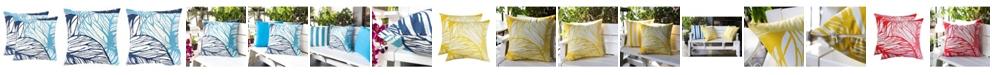 Homey Cozy Outdoor Nancy Leaf Set of 2 Throw Pillows