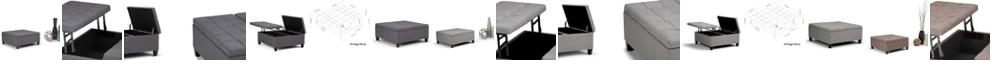 Simpli Home Harrison Table/Ottoman Set
