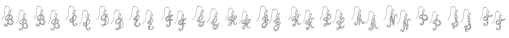 2028 Silver Tone Crystal Initial Wire Earring