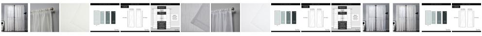 "Exclusive Home Nicole Miller Wellington Embellished Slub Rod Pocket Top 54"" X 84"" Curtain Panel Pair"