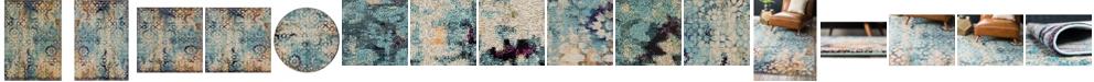 Bridgeport Home Brio Bri1 Blue Area Rug Collection