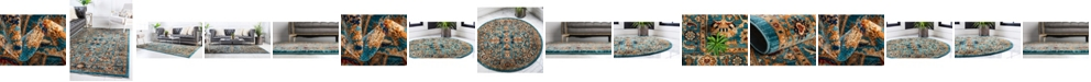 Bridgeport Home Thule Thu1 Turquoise Area Rug Collection