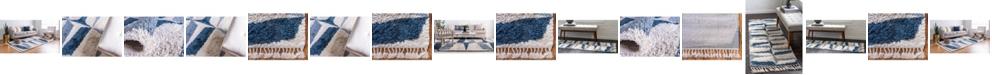 Bridgeport Home Lochcort Shag Loc6 Blue Area Rug Collection
