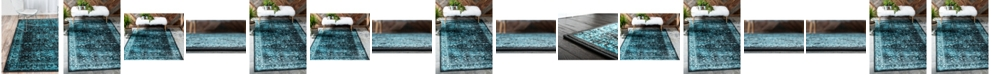 Bridgeport Home Linport Lin1 Turquoise/Black Area Rug Collection