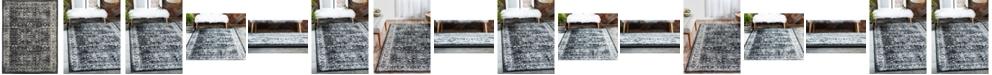 Bridgeport Home Linport Lin1 Black Area Rug Collection