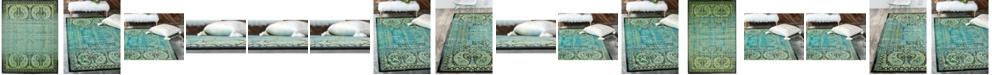 Bridgeport Home Linport Lin6 Aquamarine Area Rug Collection