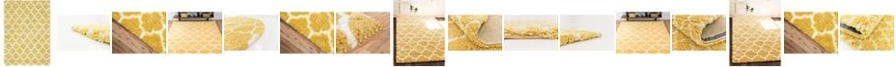 Bridgeport Home Fazil Shag Faz4 Yellow Area Rug Collection