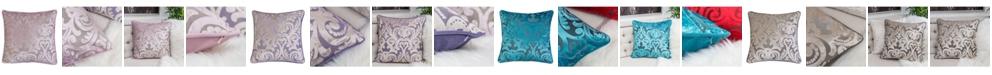 Homey Cozy Hailey Modern Velvet Square Decorative Throw Pillow