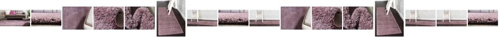 Bridgeport Home Salon Solid Shag Sss1 Mauve Area Rug Collection