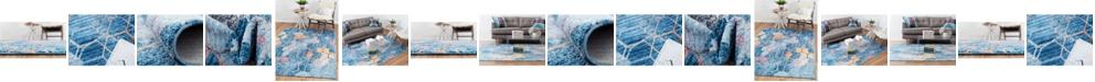 Bridgeport Home Prizem Shag Prz1 Blue Area Rug Collection