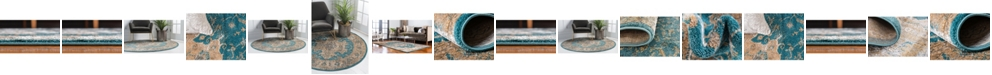 Bridgeport Home Aroa Aro1 Teal Area Rug Collection
