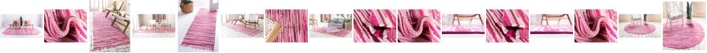 Bridgeport Home Jari Striped Jar1 Pink Area Rug Collection