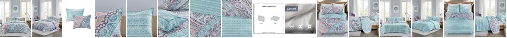 Intelligent Design Lidia 3-Piece Full/Queen Reversible Coverlet Set