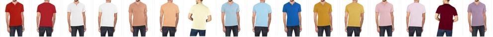 X-Ray Men's Soft Stretch Slit V-Neck T-Shirt