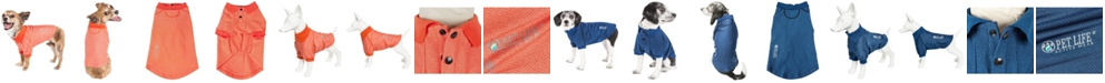 Pet Life Central Pet Life Active 'Fur-Flexed' Relax Stretch Performance Dog Polo T-Shirt