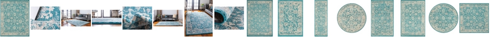 Bridgeport Home Lorem Lor3 Turquoise Area Rug Collection