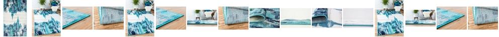 Bridgeport Home Politan Pol2 Turquoise Area Rug Collection