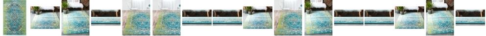 Bridgeport Home Linport Lin4 Blue Area Rug Collection
