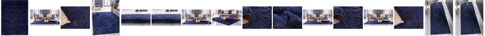 Bridgeport Home Filigree Shag Fil2 Navy Blue Area Rug Collection