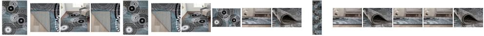 Main Street Rugs Home Montane Mon119 Blue/Gray Area Rug Collection