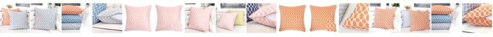 Homey Cozy Georgia Jacquard Square Decorative Throw Pillow