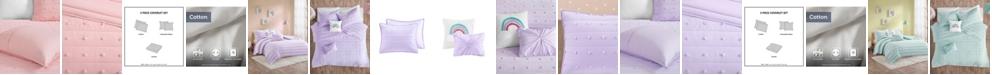 Urban Habitat Callie Full/Queen 5 Piece Cotton Jacquard Pom Pom Coverlet Set