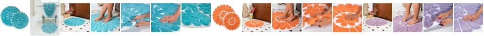 Chesapeake Bursting Flower 2 Piece Bath Rug Set