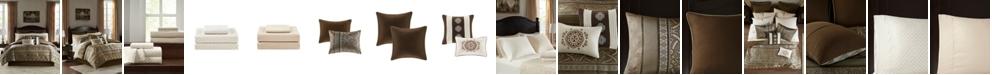 JLA Home Zara California King 16 Piece Jacquard Complete Bedding Set With 2 Sheet Sets