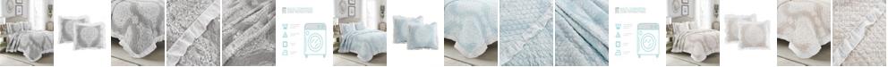 Lush Decor Lucianna Ruffle Edge Cotton 3Pc King Bedspread Set