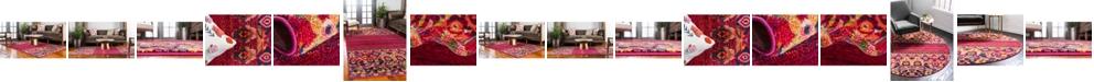 Bridgeport Home Sana San3 Fuchsia Area Rug Collection