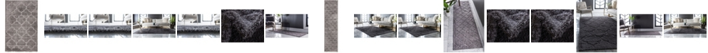 Bridgeport Home Filigree Shag Fil2 Dark Gray Area Rug Collection