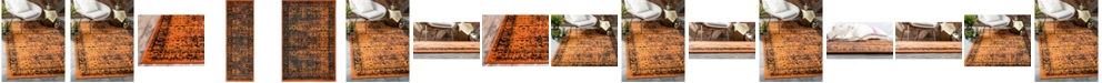 Bridgeport Home Linport Lin1 Terracotta/Black Area Rug Collection