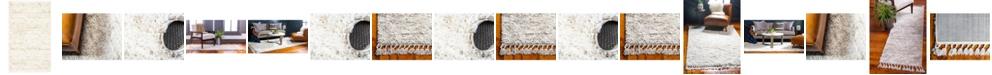 Bridgeport Home Lochcort Shag Loc3 Ivory Area Rug Collection