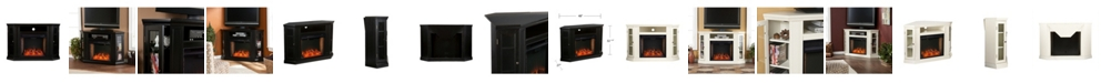 Southern Enterprises Stonington Alexa-Enabled Corner Convertible Electric Fireplace with Storage