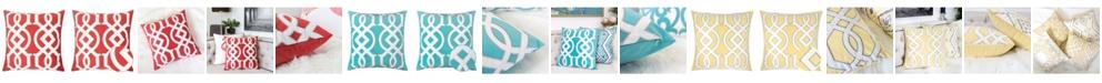 Homey Cozy Applique Velvet Square Decorative Throw Pillow