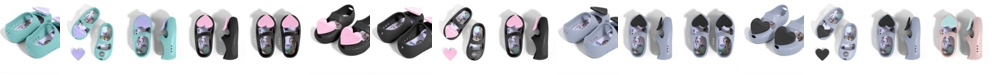 Baubles + Soles Toddler Girls Kaia Shoes with Twist Lock Slip-On Interchangeable Flat