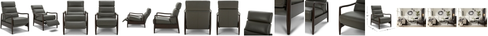 Furniture Jazlo Leather Push Back Recliner, Created for Macy's