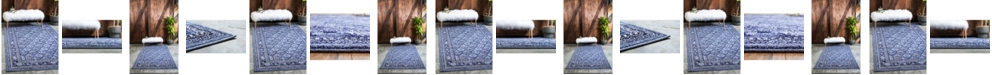 Bridgeport Home Aldrose Ald2 Blue Area Rug Collection