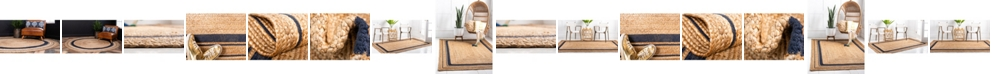 Bridgeport Home Braided Border Brb1 Natural/Navy Area Rug Collection