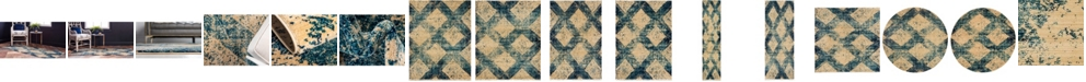 Bridgeport Home Thule Thu4 Blue Area Rug Collection