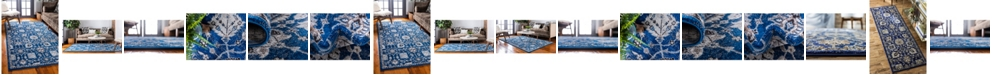 Bridgeport Home Wisdom Wis1 Blue Area Rug Collection
