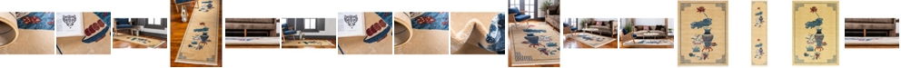 Bridgeport Home Sahil Sah1 Tan Area Rug Collection