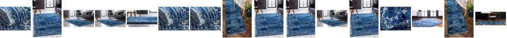 Bridgeport Home Mobley Mob2 Navy Blue Area Rug Collection