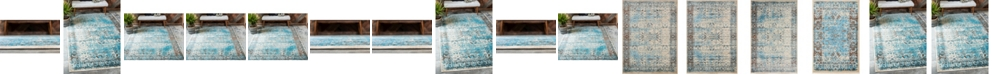 Bridgeport Home Linport Lin1 Ivory/Turquoise Area Rug Collection
