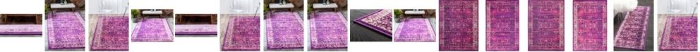 Bridgeport Home Linport Lin1 Lilac Area Rug Collection