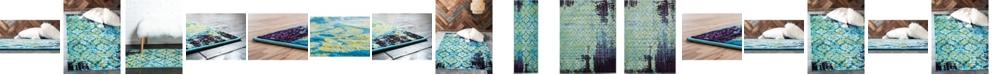 Bridgeport Home Linport Lin2 Blue Area Rug Collection