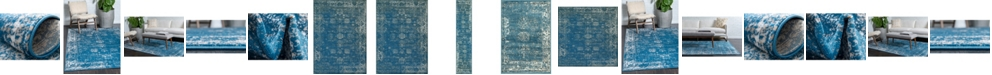 Bridgeport Home Basha Bas1 Blue Area Rug Collection