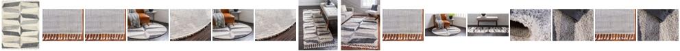 Bridgeport Home Lochcort Shag Loc6 Gray Area Rug Collection