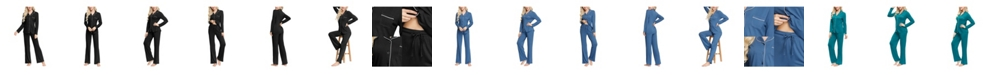 INK+IVY Women's Notch Collar Pajama Top and Pant Set