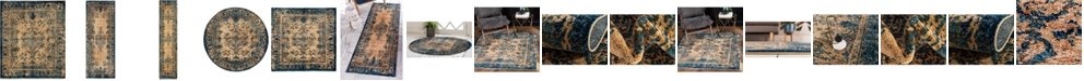 Bridgeport Home Thule Thu3 Blue Area Rug Collection